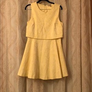 Forever 21 yellow vintage dress